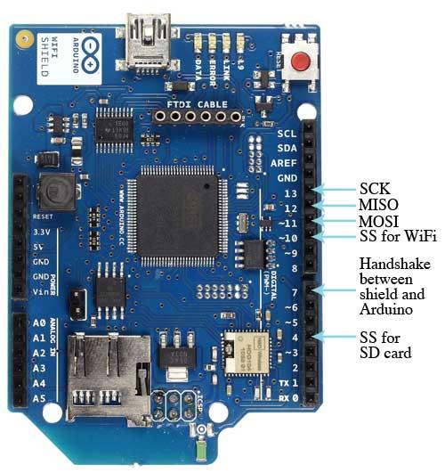 arduino wifi shield wifi扩展板 无线 wifi小车 arduino原装进口