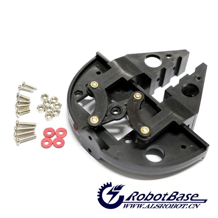 机械臂夹持器具有更大的开距、夹持物体形状的广泛性、可扩展性、可安装薄膜式压力传感器或柔性软垫等显著特点