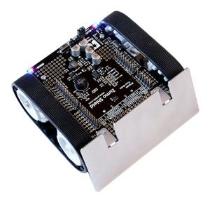 履带式机器人,重量300g( 包括 arduino uno控制器与电池),外形尺寸98