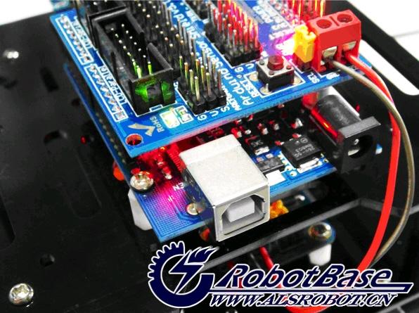 arduino-rover路虎5越野履带机器人寻线避障套件