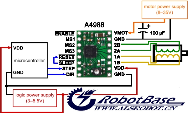 arduino兼容 a4988微步电机驱动器 双路驱动板 pololu