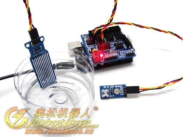 Arduino 水位传感器 液面高度 Water Sensor 水分 液滴 水深检测